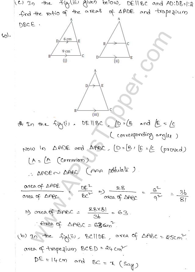 ML Aggarwal ICSE Solutions for Class 10 Maths Chapter 14 Similarity Q1.4