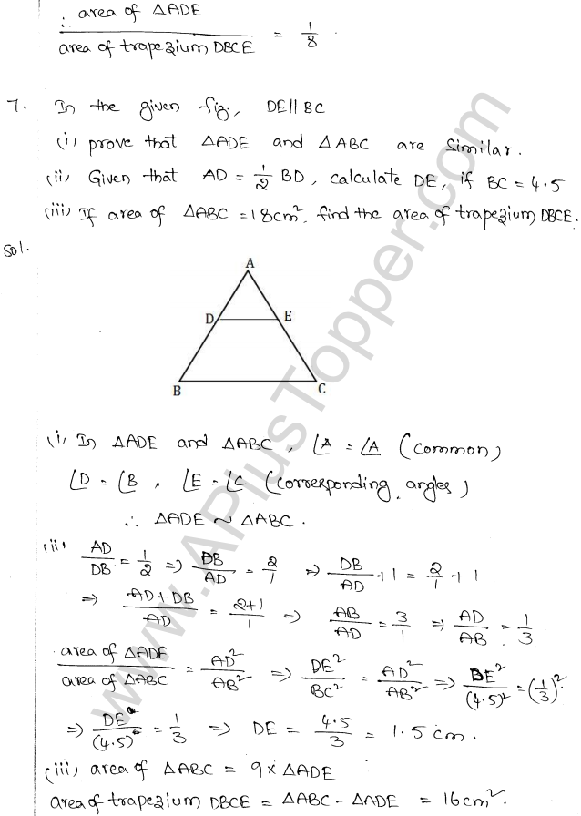 ML Aggarwal ICSE Solutions for Class 10 Maths Chapter 14 Similarity Q1.6