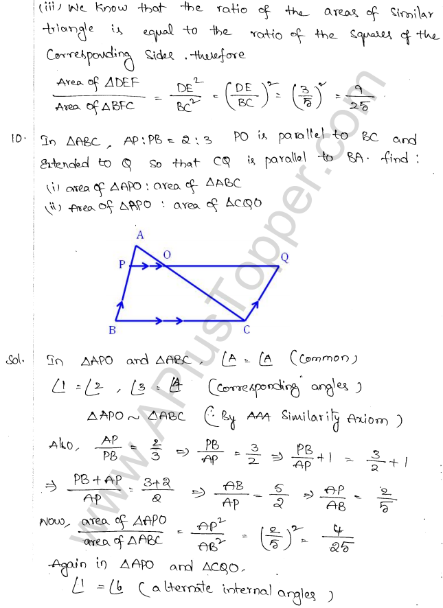 ML Aggarwal ICSE Solutions for Class 10 Maths Chapter 14 Similarity Q1.9