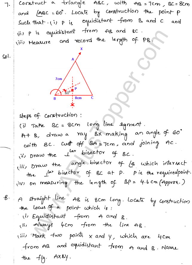 ML Aggarwal ICSE Solutions for Class 10 Maths Chapter 15 Locus Q1.11