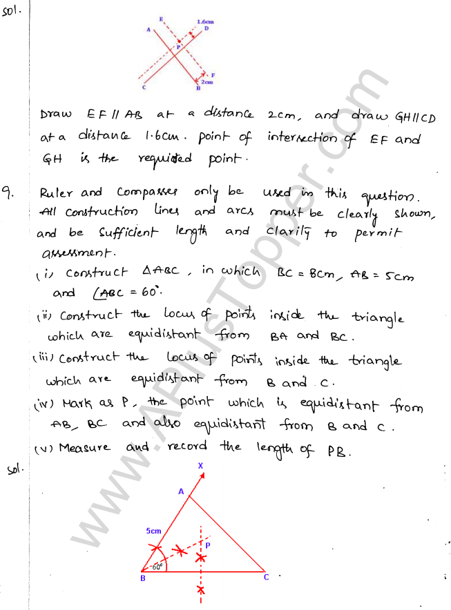ML Aggarwal ICSE Solutions for Class 10 Maths Chapter 15 Locus Q1.12