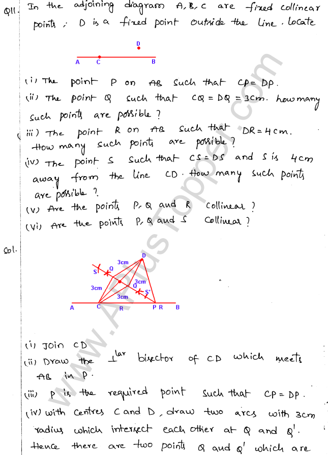 ML Aggarwal ICSE Solutions for Class 10 Maths Chapter 15 Locus Q1.14