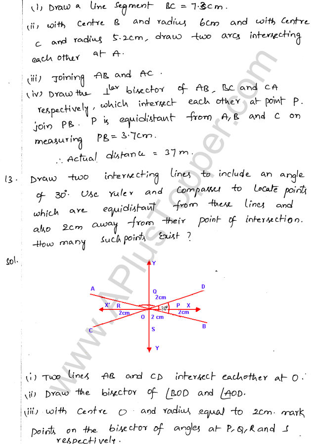 ML Aggarwal ICSE Solutions for Class 10 Maths Chapter 15 Locus Q1.16