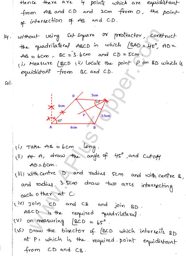 ML Aggarwal ICSE Solutions for Class 10 Maths Chapter 15 Locus Q1.17