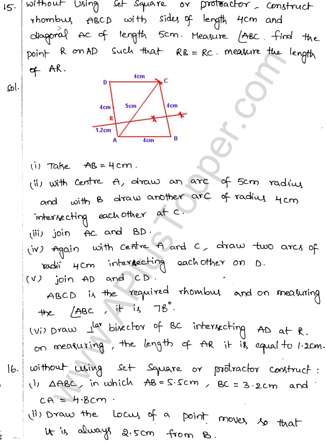ML Aggarwal ICSE Solutions for Class 10 Maths Chapter 15 Locus Q1.18