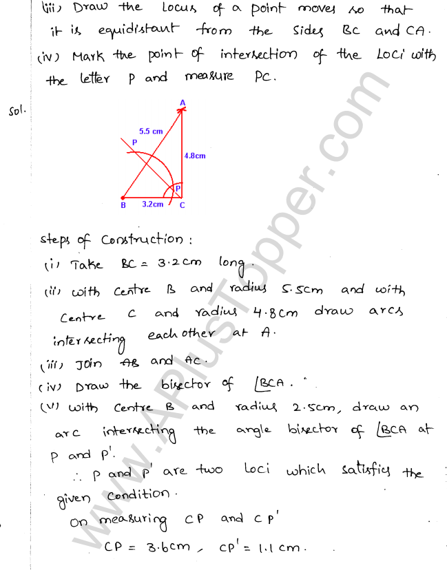 ML Aggarwal ICSE Solutions for Class 10 Maths Chapter 15 Locus Q1.19