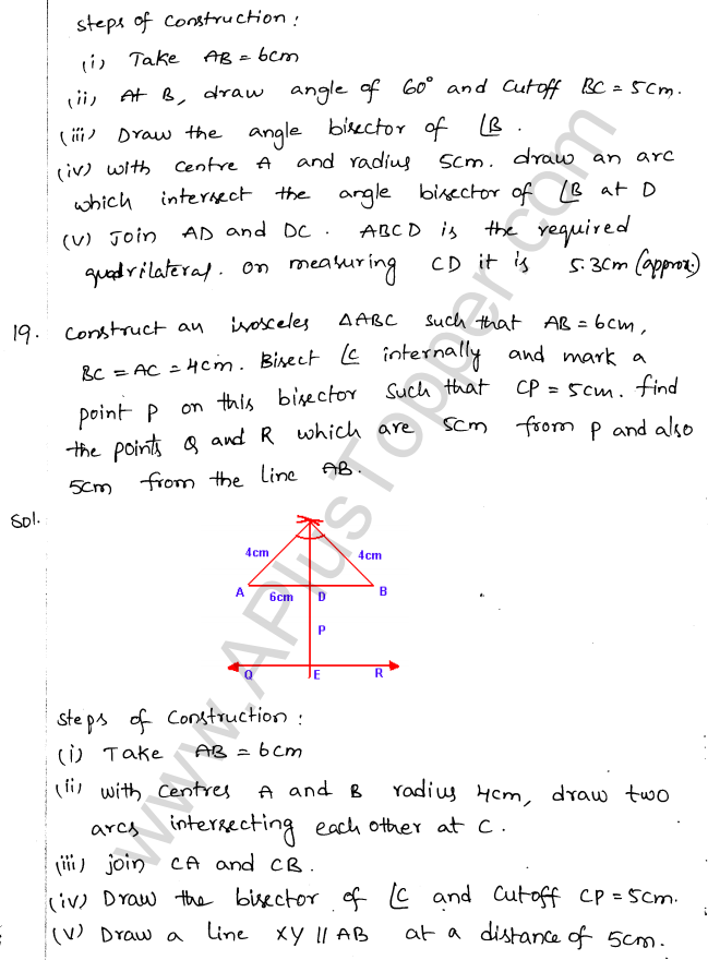 ML Aggarwal ICSE Solutions for Class 10 Maths Chapter 15 Locus Q1.21