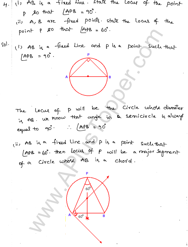 ML Aggarwal ICSE Solutions for Class 10 Maths Chapter 15 Locus Q1.3