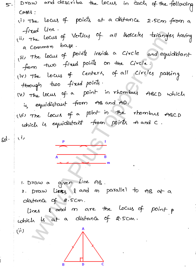 ML Aggarwal ICSE Solutions for Class 10 Maths Chapter 15 Locus Q1.4