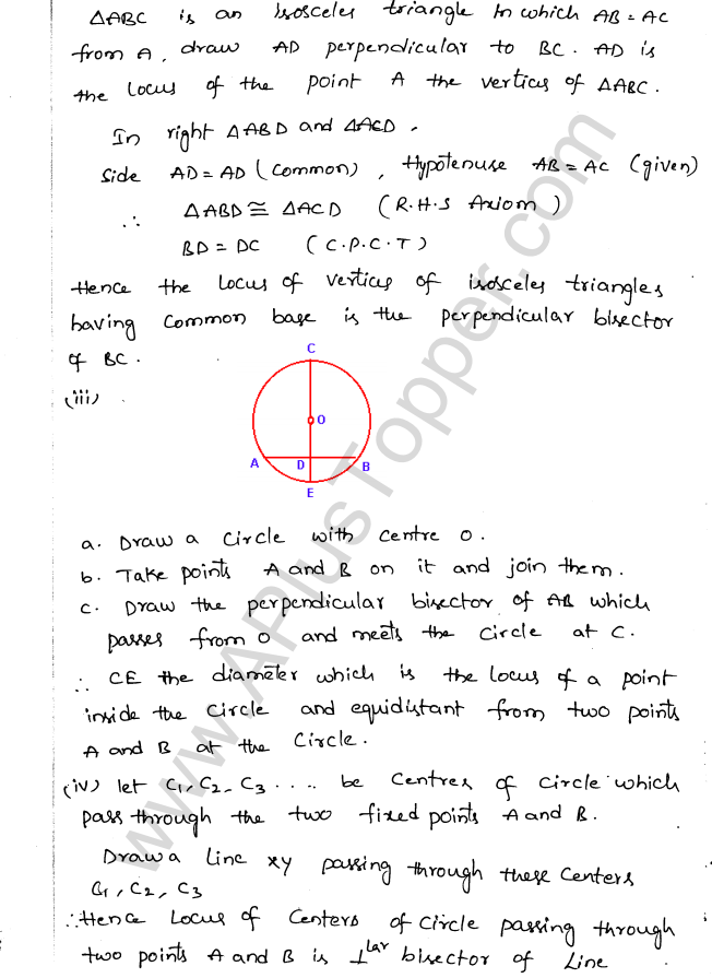 ML Aggarwal ICSE Solutions for Class 10 Maths Chapter 15 Locus Q1.5