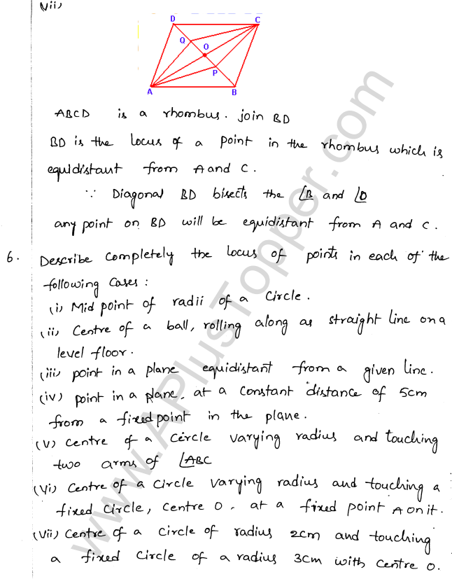 ML Aggarwal ICSE Solutions for Class 10 Maths Chapter 15 Locus Q1.7