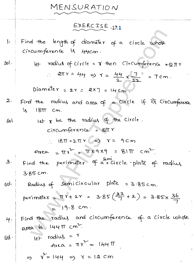 ML Aggarwal ICSE Solutions for Class 10 Maths Chapter 18 Mensuration Q1.1