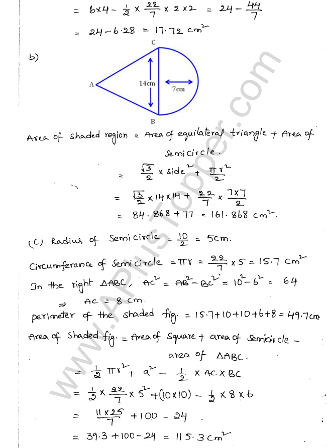 ML Aggarwal ICSE Solutions for Class 10 Maths Chapter 18 Mensuration Q1.10