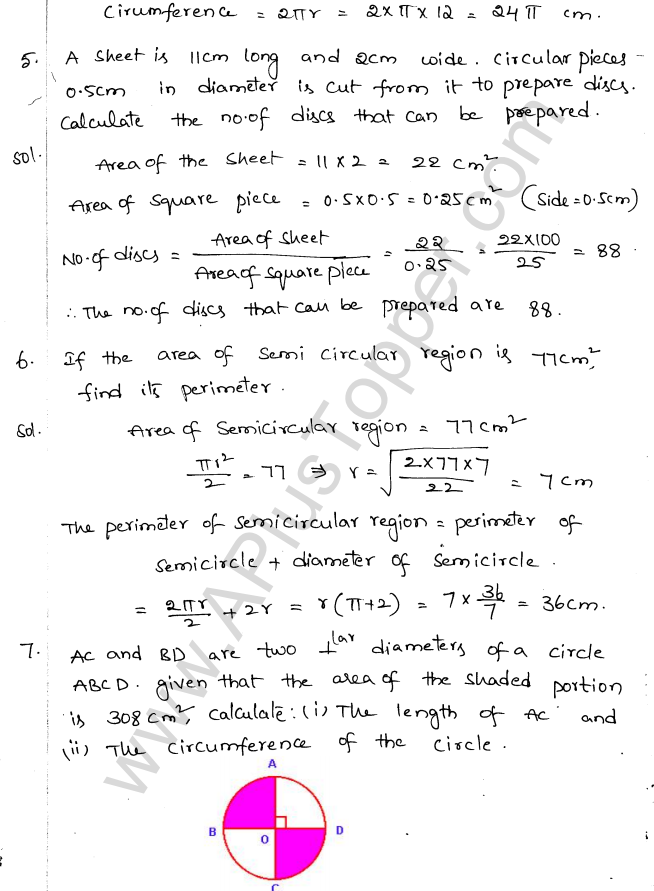 ML Aggarwal ICSE Solutions for Class 10 Maths Chapter 18 Mensuration Q1.2