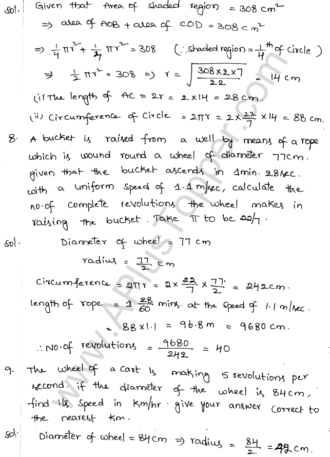 ML Aggarwal ICSE Solutions for Class 10 Maths Chapter 18 Mensuration Q1.3