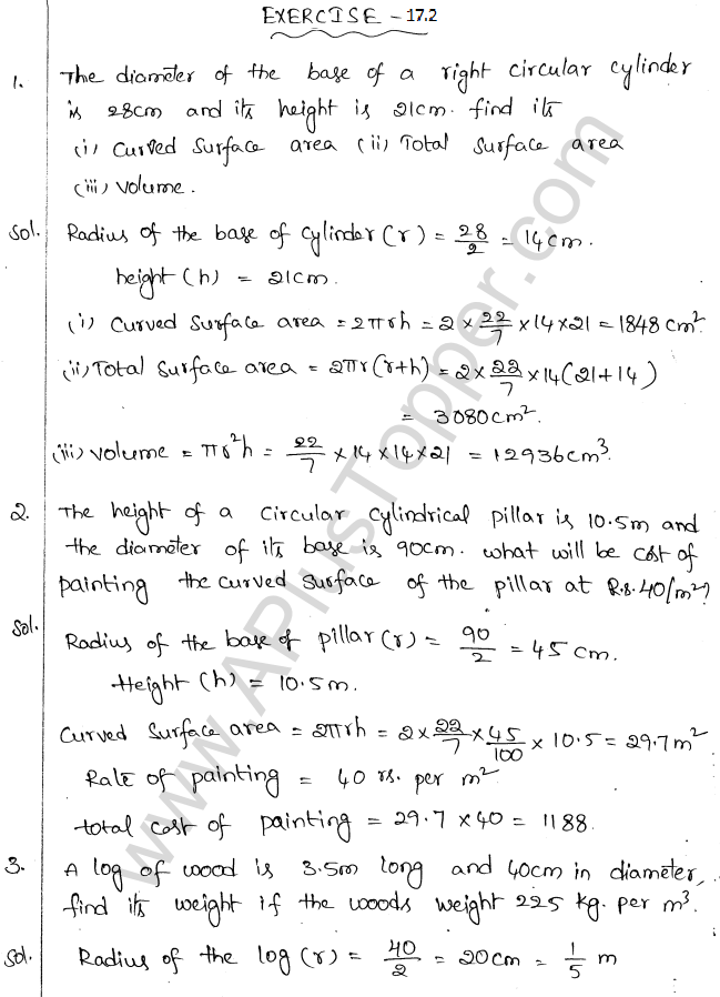 ML Aggarwal ICSE Solutions for Class 10 Maths Chapter 18 Mensuration Q1.33