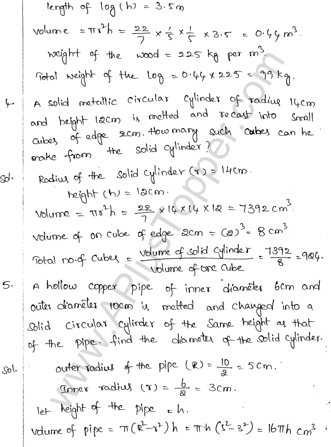 ML Aggarwal ICSE Solutions for Class 10 Maths Chapter 18 Mensuration Q1.34