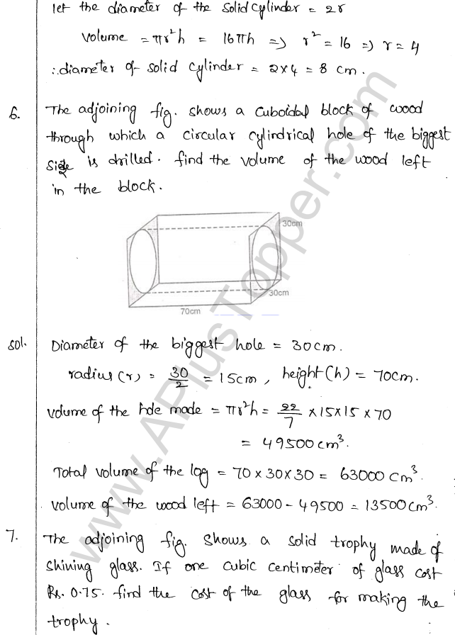 ML Aggarwal ICSE Solutions for Class 10 Maths Chapter 18 Mensuration Q1.35
