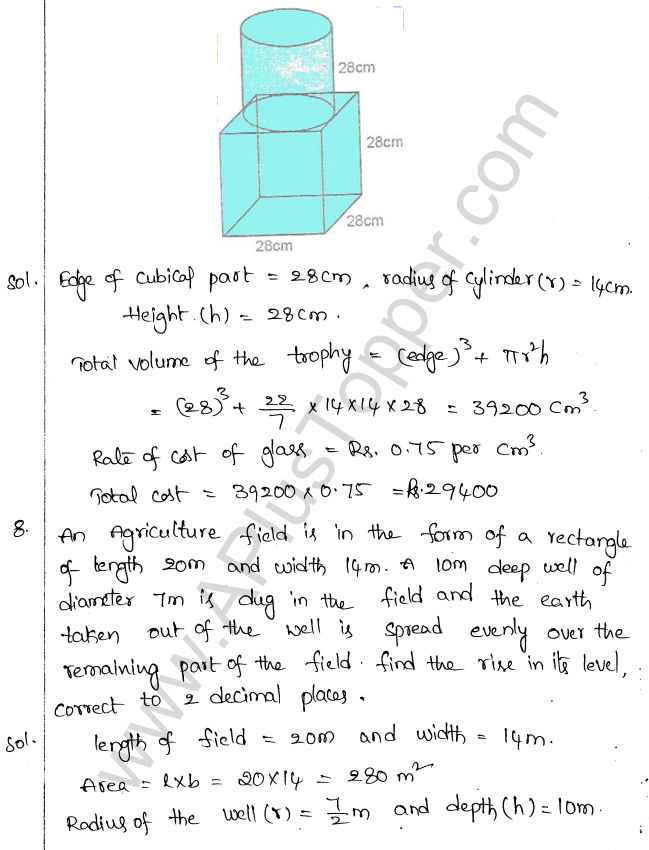 ML Aggarwal ICSE Solutions for Class 10 Maths Chapter 18 Mensuration Q1.36