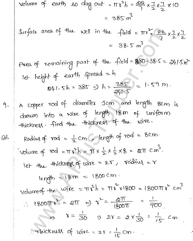 ML Aggarwal ICSE Solutions for Class 10 Maths Chapter 18 Mensuration Q1.37