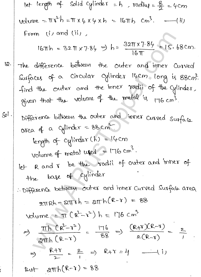 ML Aggarwal ICSE Solutions for Class 10 Maths Chapter 18 Mensuration Q1.39