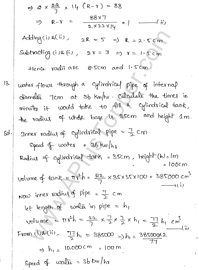 ML Aggarwal ICSE Solutions for Class 10 Maths Chapter 18 Mensuration Q1.40