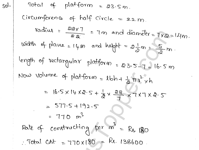 ML Aggarwal ICSE Solutions for Class 10 Maths Chapter 18 Mensuration Q1.42