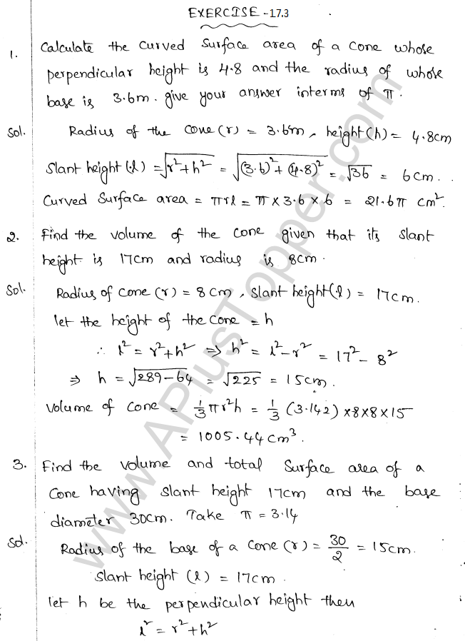 ML Aggarwal ICSE Solutions for Class 10 Maths Chapter 18 Mensuration Q1.43