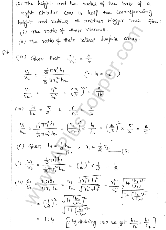 ML Aggarwal ICSE Solutions for Class 10 Maths Chapter 18 Mensuration Q1.47
