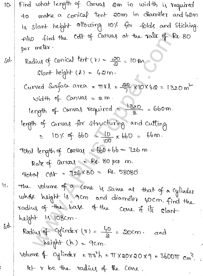 ML Aggarwal ICSE Solutions for Class 10 Maths Chapter 18 Mensuration Q1.48