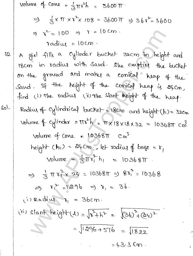 ML Aggarwal ICSE Solutions for Class 10 Maths Chapter 18 Mensuration Q1.49