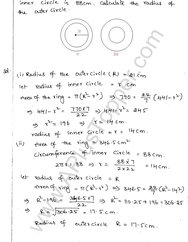 ML Aggarwal ICSE Solutions for Class 10 Maths Chapter 18 Mensuration Q1.5