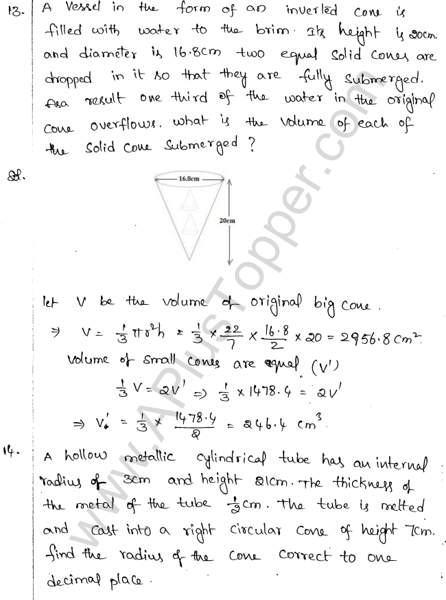 ML Aggarwal ICSE Solutions for Class 10 Maths Chapter 18 Mensuration Q1.50