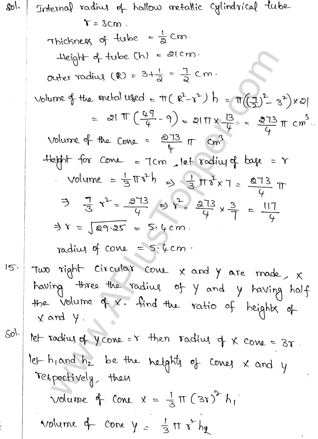 ML Aggarwal ICSE Solutions for Class 10 Maths Chapter 18 Mensuration Q1.51