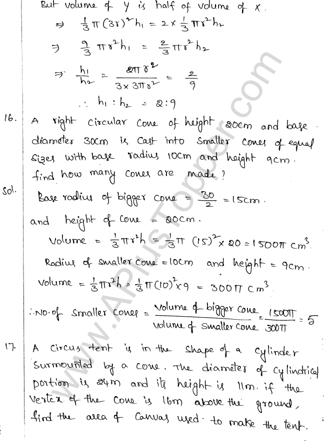 ML Aggarwal ICSE Solutions for Class 10 Maths Chapter 18 Mensuration Q1.52
