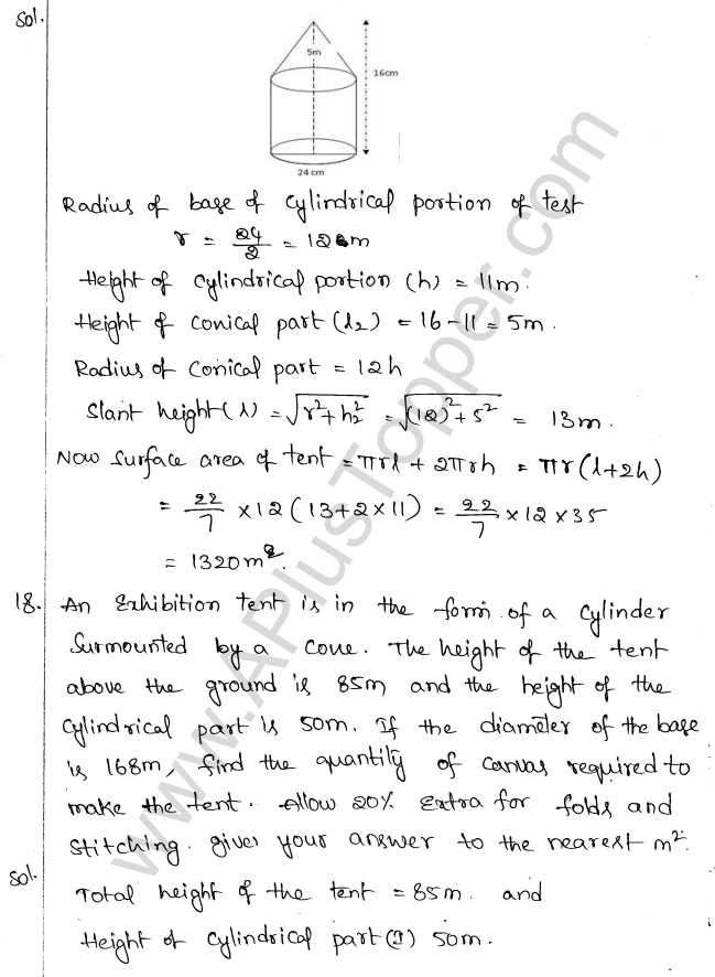 ML Aggarwal ICSE Solutions for Class 10 Maths Chapter 18 Mensuration Q1.53