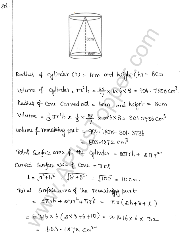 ML Aggarwal ICSE Solutions for Class 10 Maths Chapter 18 Mensuration Q1.55