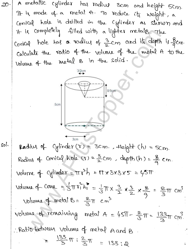 ML Aggarwal ICSE Solutions for Class 10 Maths Chapter 18 Mensuration Q1.56