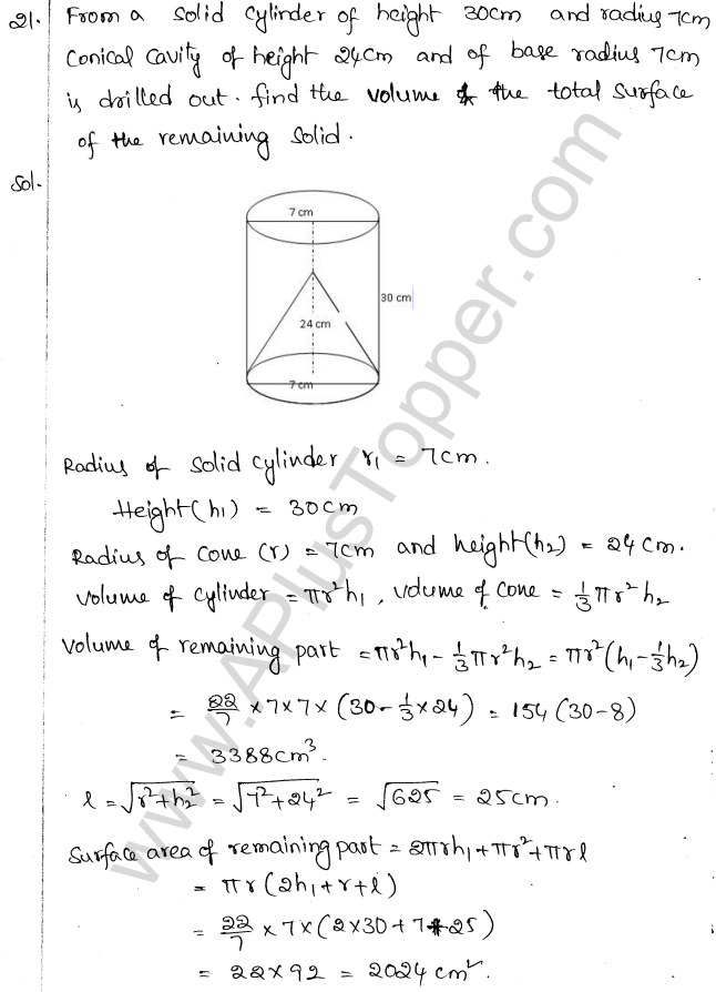 ML Aggarwal ICSE Solutions for Class 10 Maths Chapter 18 Mensuration Q1.57