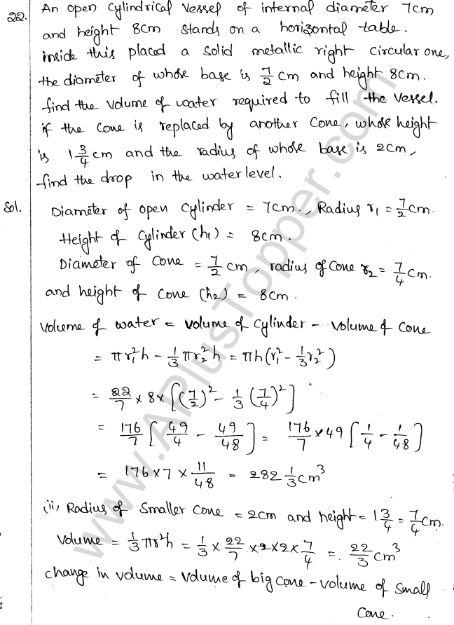 ML Aggarwal ICSE Solutions for Class 10 Maths Chapter 18 Mensuration Q1.58