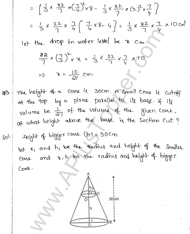 ML Aggarwal ICSE Solutions for Class 10 Maths Chapter 18 Mensuration Q1.59