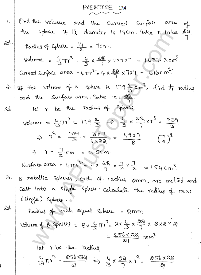 ML Aggarwal ICSE Solutions for Class 10 Maths Chapter 18 Mensuration Q1.62