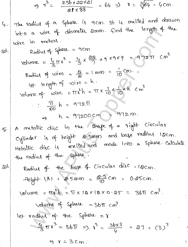 ML Aggarwal ICSE Solutions for Class 10 Maths Chapter 18 Mensuration Q1.63