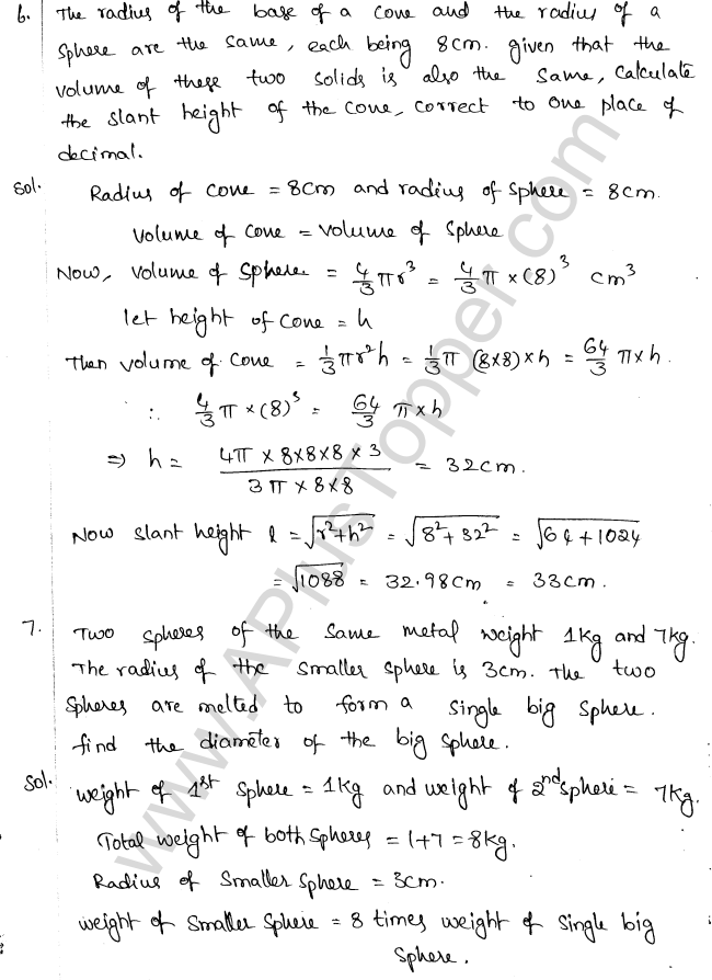 ML Aggarwal ICSE Solutions for Class 10 Maths Chapter 18 Mensuration Q1.64