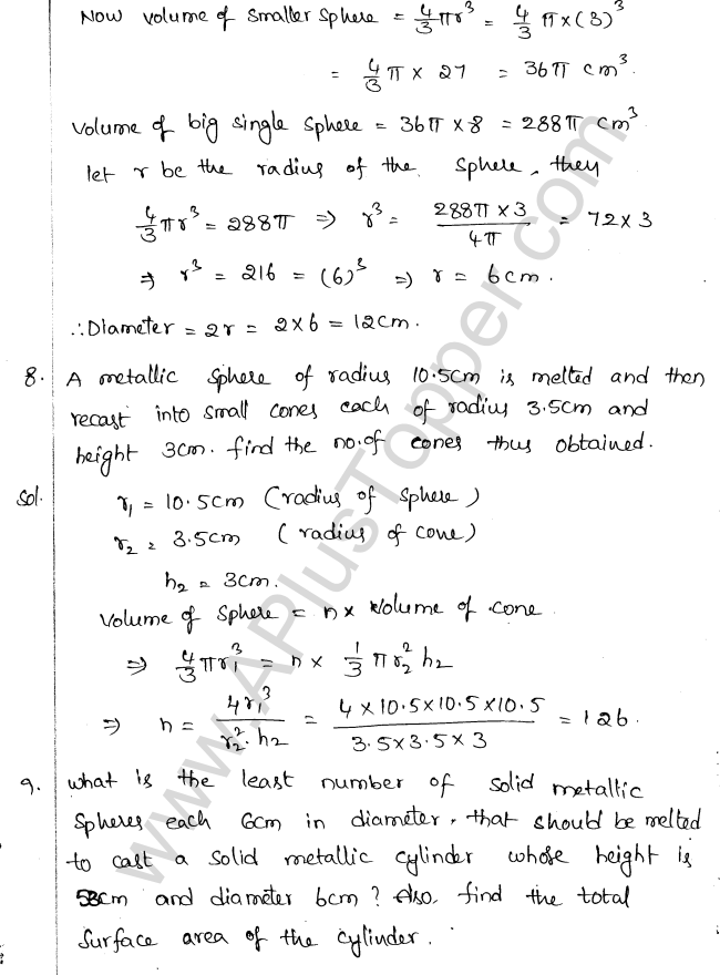 ML Aggarwal ICSE Solutions for Class 10 Maths Chapter 18 Mensuration Q1.65