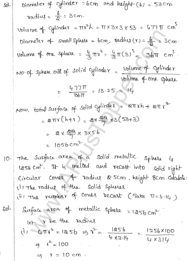 ML Aggarwal ICSE Solutions for Class 10 Maths Chapter 18 Mensuration Q1.66