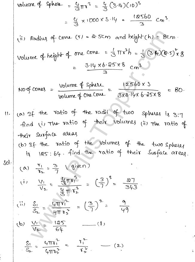 ML Aggarwal ICSE Solutions for Class 10 Maths Chapter 18 Mensuration Q1.67