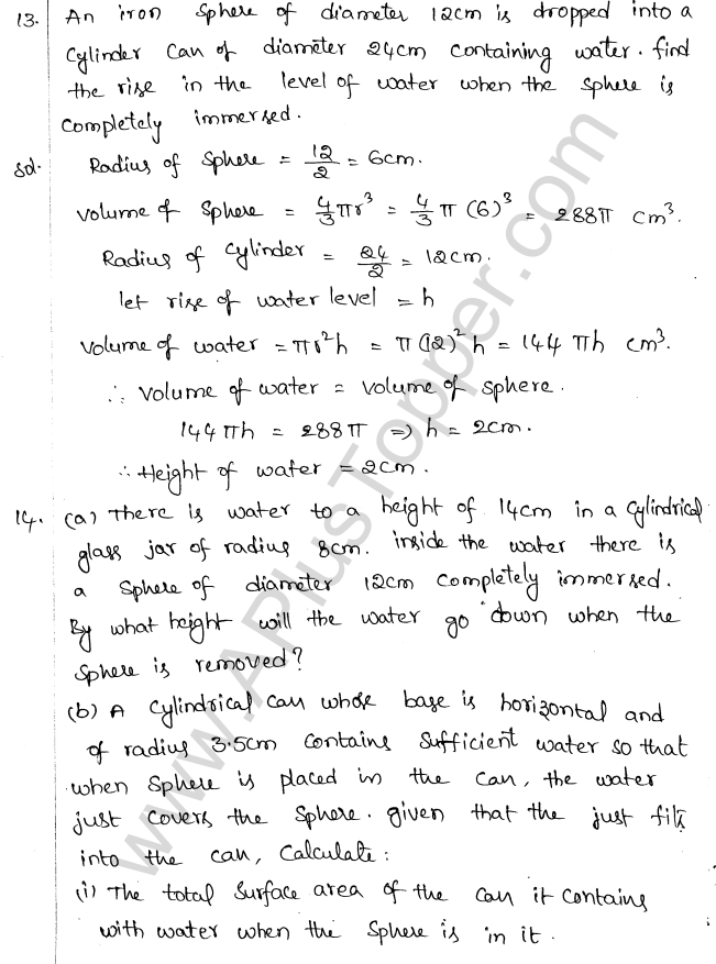 ML Aggarwal ICSE Solutions for Class 10 Maths Chapter 18 Mensuration Q1.69