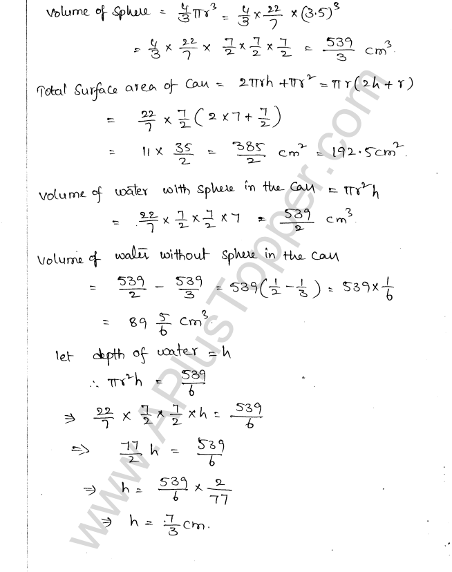 ML Aggarwal ICSE Solutions for Class 10 Maths Chapter 18 Mensuration Q1.71