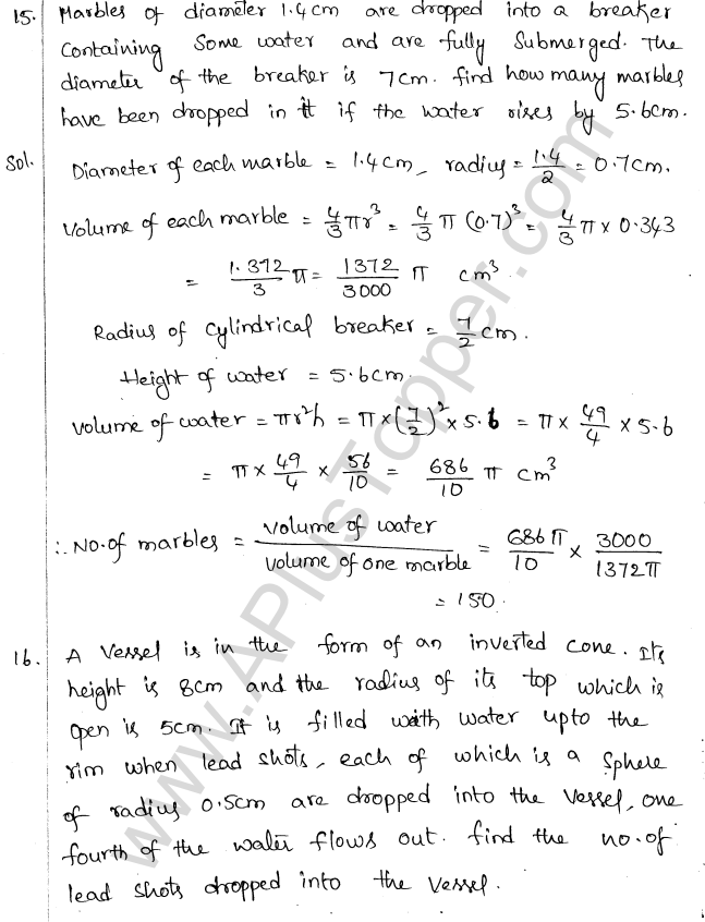 ML Aggarwal ICSE Solutions for Class 10 Maths Chapter 18 Mensuration Q1.72